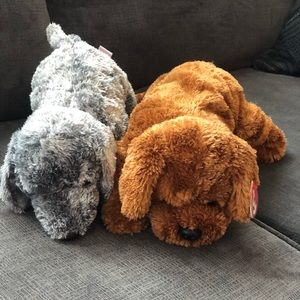 """Lot of 2 TY Classic puppy dogs  stuffed toys 14"""""""